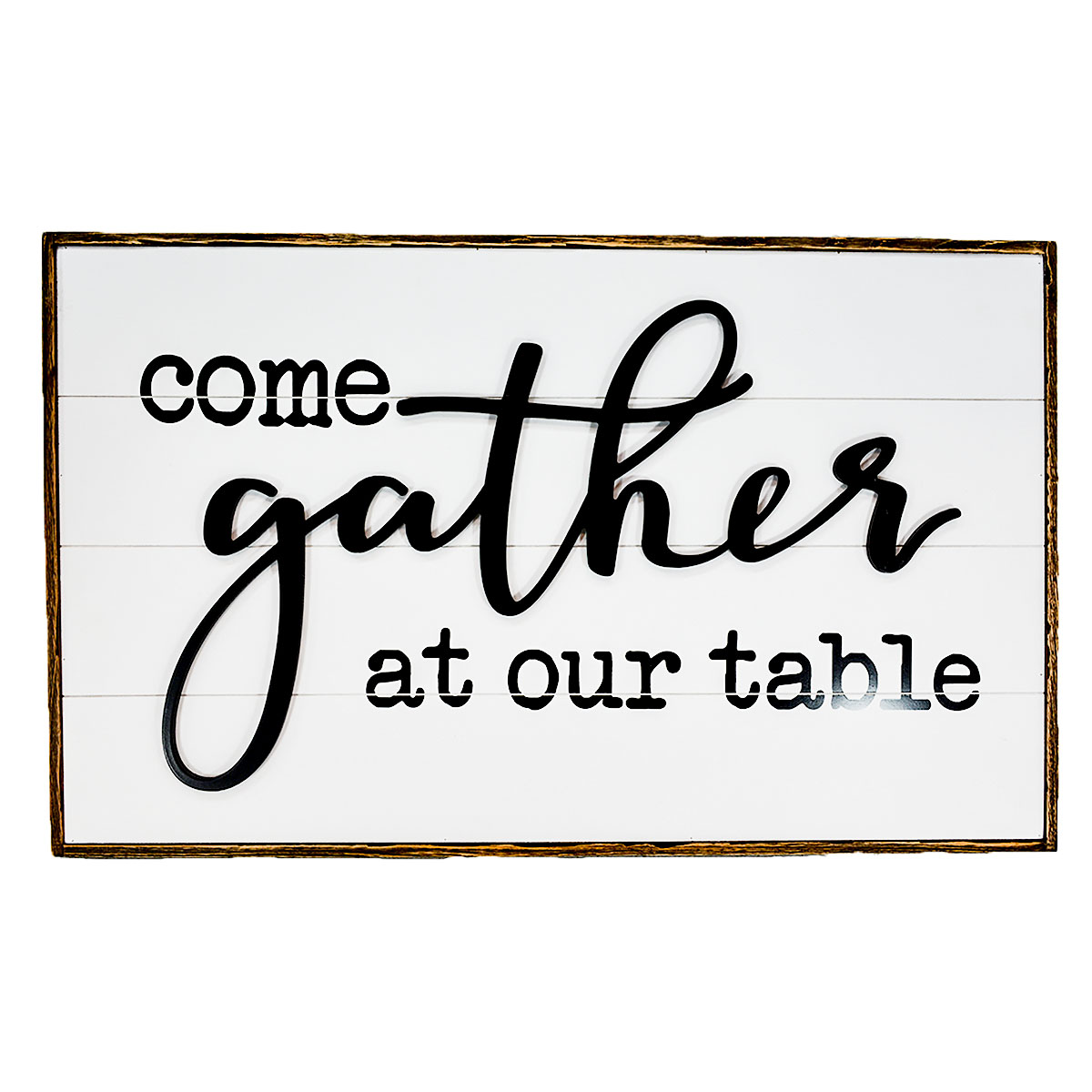 """32"""" x 20"""" GATHER TABLE WOOD SIGN"""