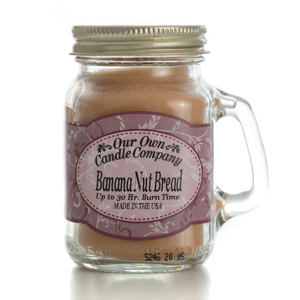 BANANA NUT BREAD MINI MASON CANDLE 3.5 OZ UPC# 810896005054