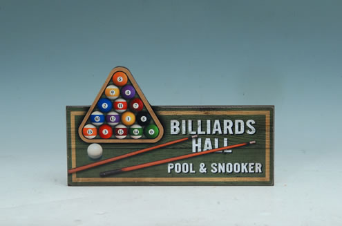WOOD POOL/SNOOKER SIGN UPC# 050262311079