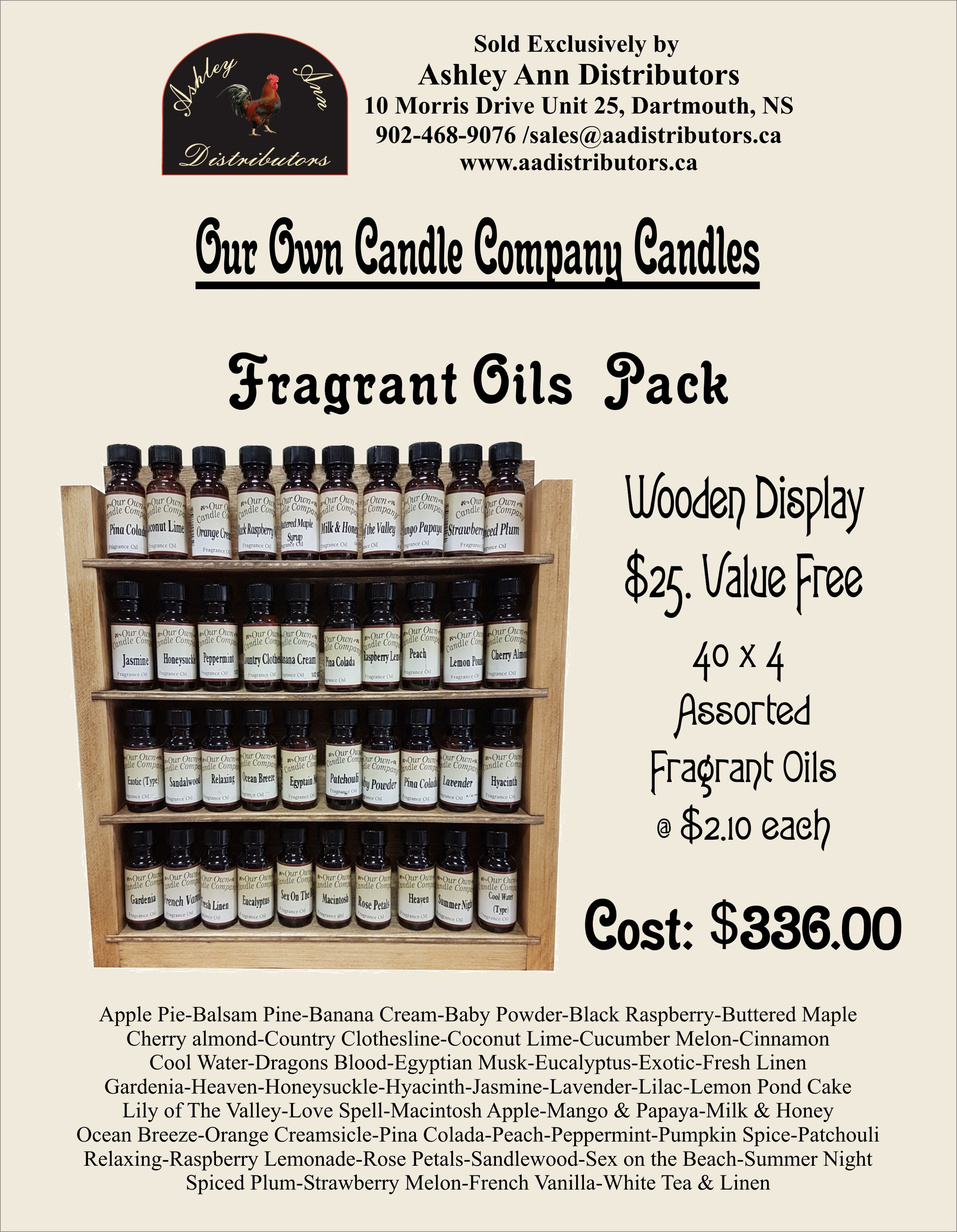 FRAGRANT OILS PACK WITH DISPLAY
