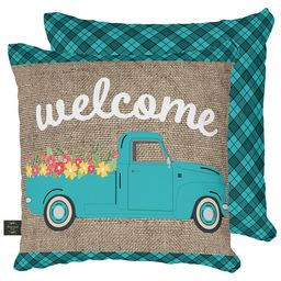 Decorative Pillow Welcome Truck