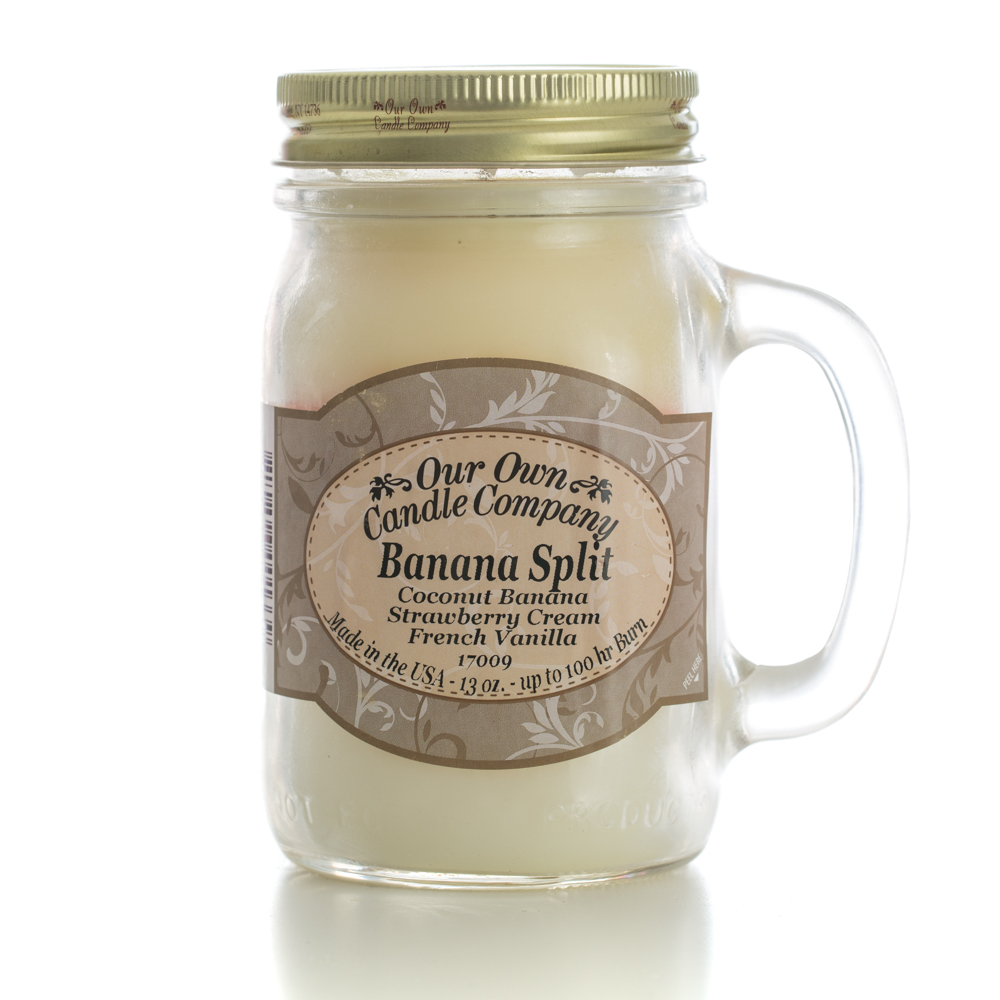BANANA SPLIT LARGE MASON CANDLE 13 OZ