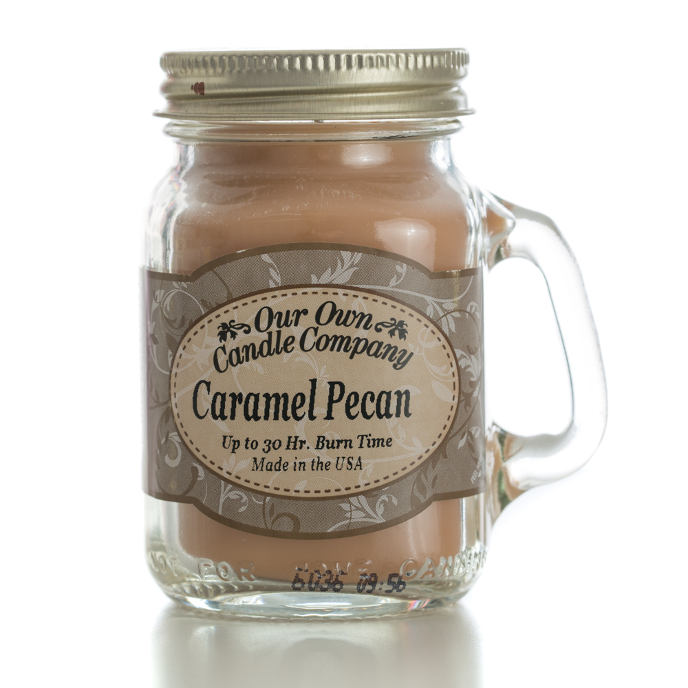 CARAMEL PECAN MINI MASON CANDLE 3.5 OZ