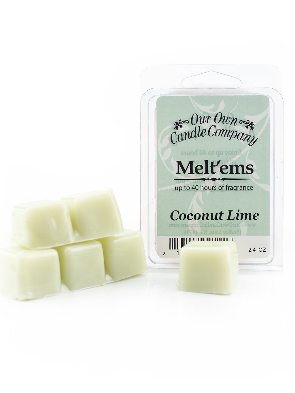 COCONUT LIME MELT 6 CUBE 2.4 OZ UPC# 813542021156