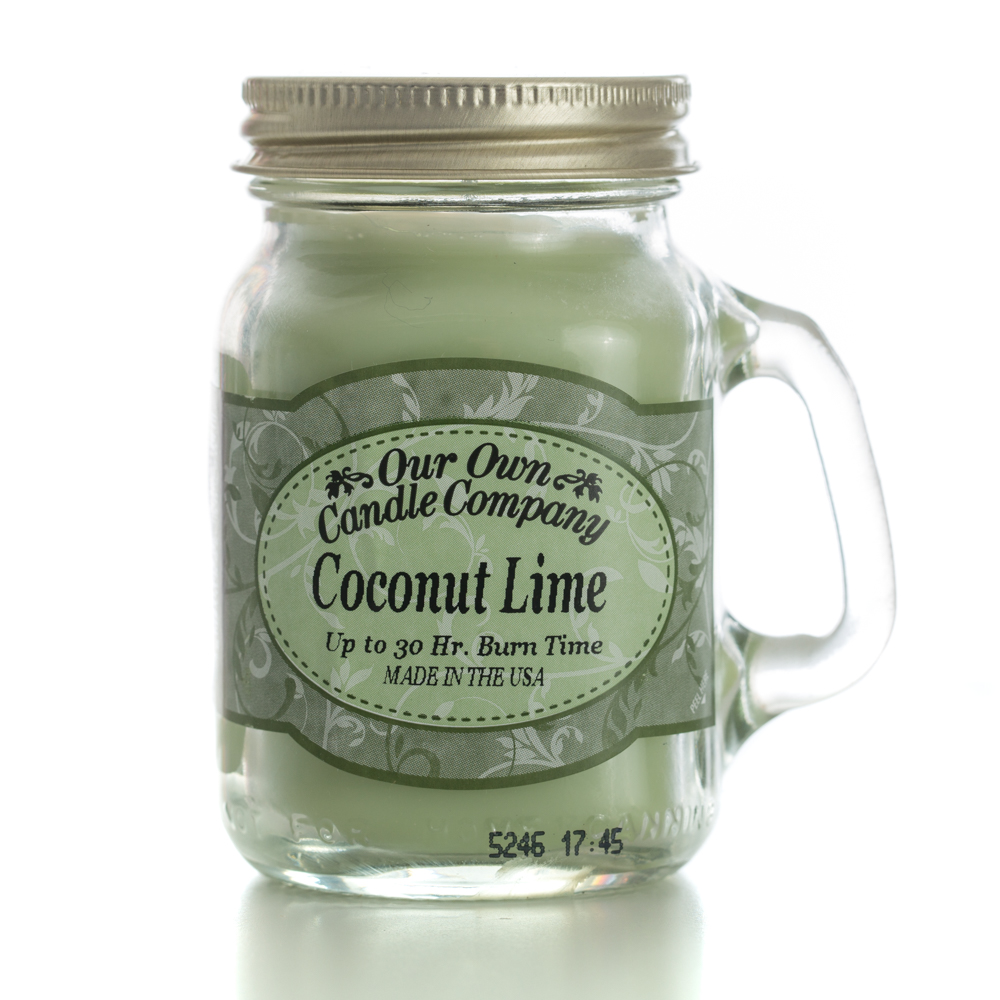 COCONUT LIME MINI MASON CANDLE 3.5 OZ UPC# 810896005207