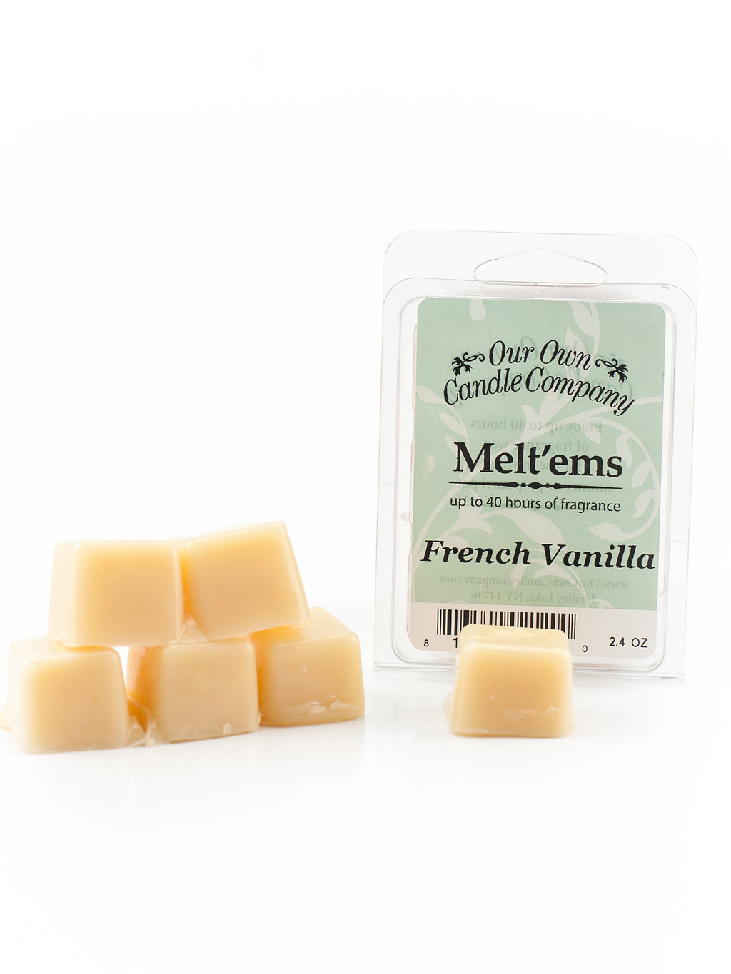 FRENCH VANILLA MELT 6 CUBE 2.4 OZ UPC# 813542021200
