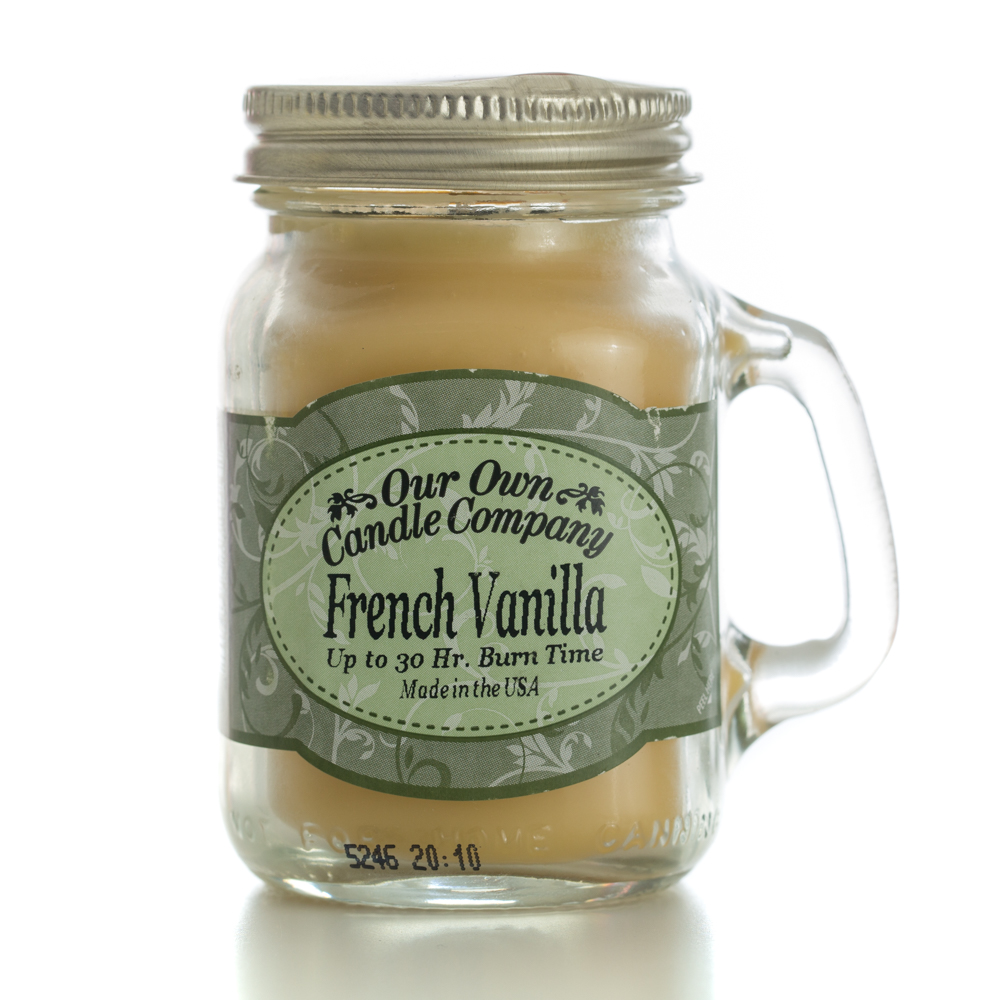 FRENCH VANILLA MINI MASON CANDLE 3.5 OZ UPC# 810896005269