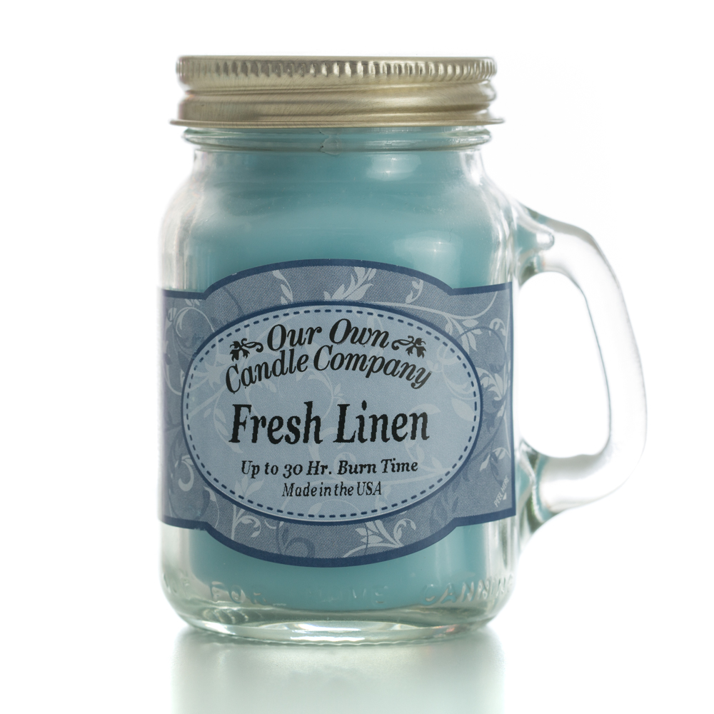 FRESH LINEN MINI MASON CANDLE 3.5 OZ