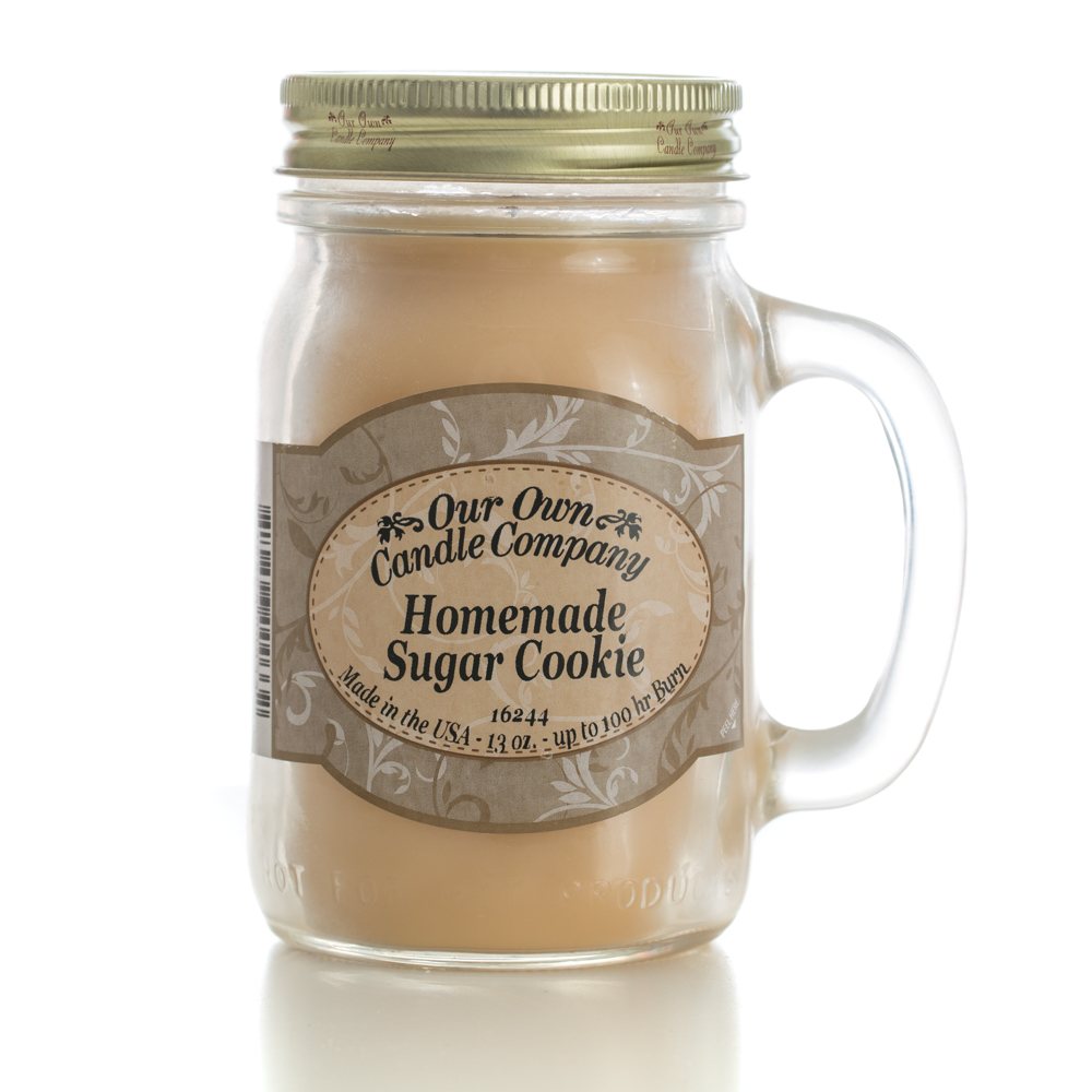 HOMEMADE SUGAR COOKIE LARGE MASON CANDLE 13 OZ UPC# 810896000332