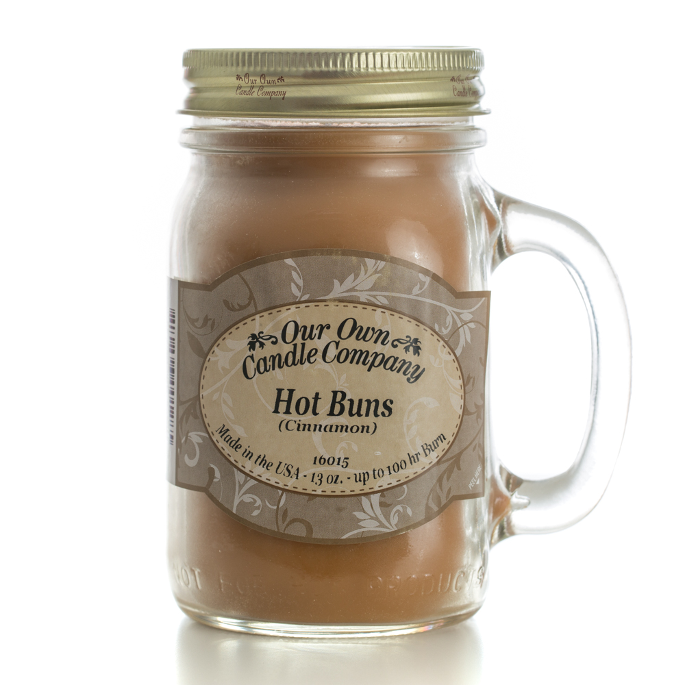 HOT BUNS CINNAMON BUN LARGE MASON CANDLE 13 OZ