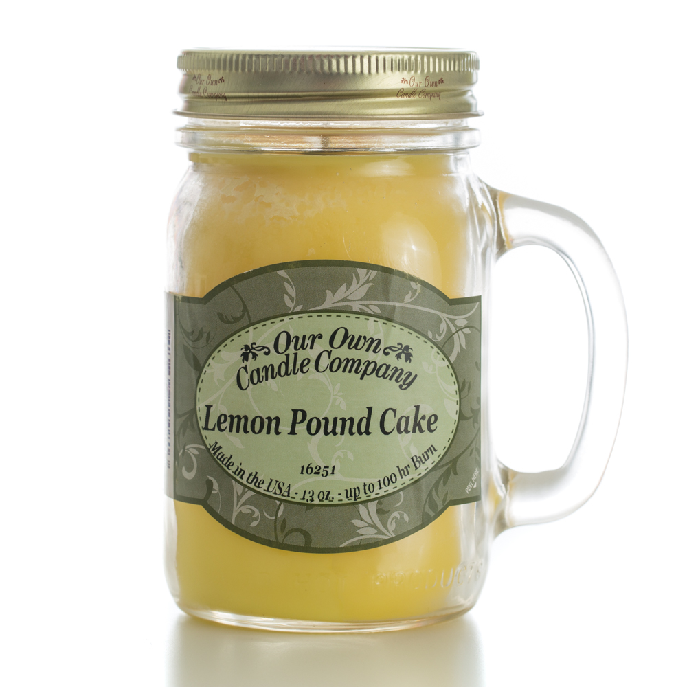 LEMON POUNDCAKE LARGE MASON CANDLE 13 OZ UPC# 810896000813