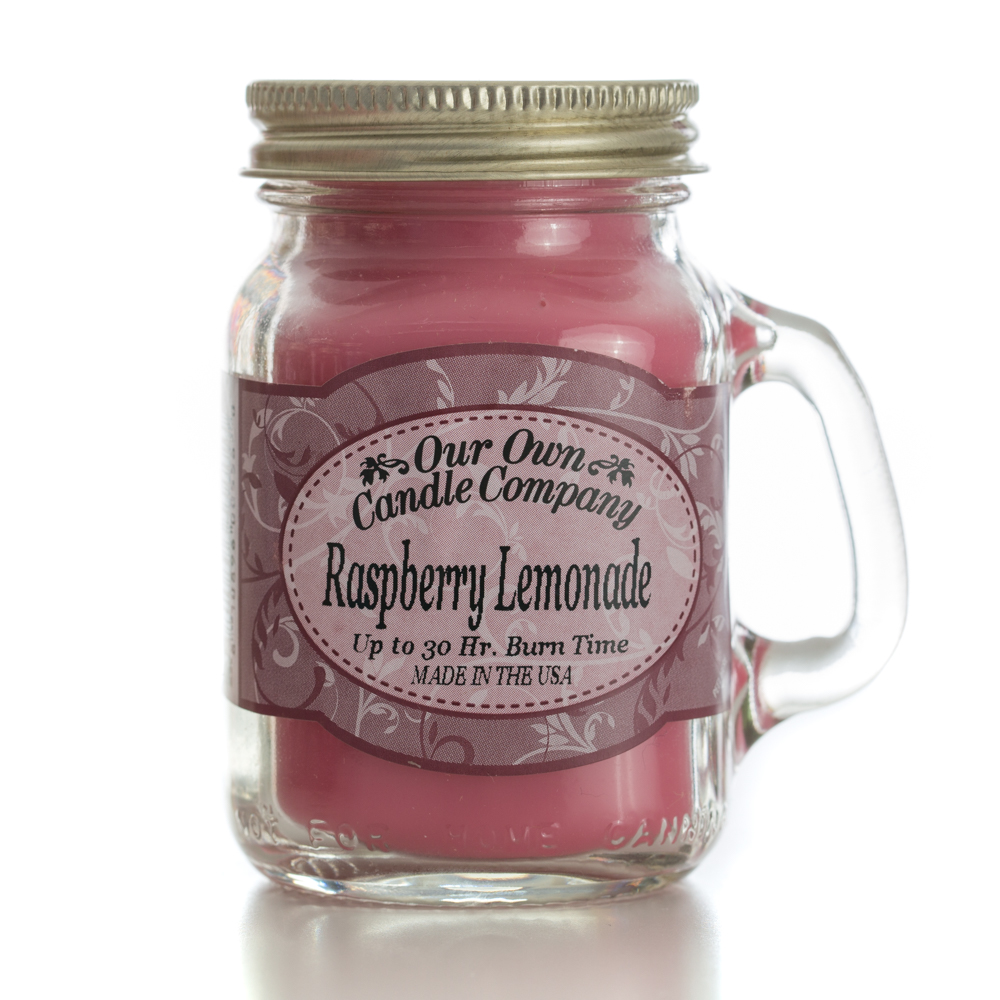 RASPBERRY LEMONADE MINI MASON CANDLE 3.5 OZ UPC# 810896005580