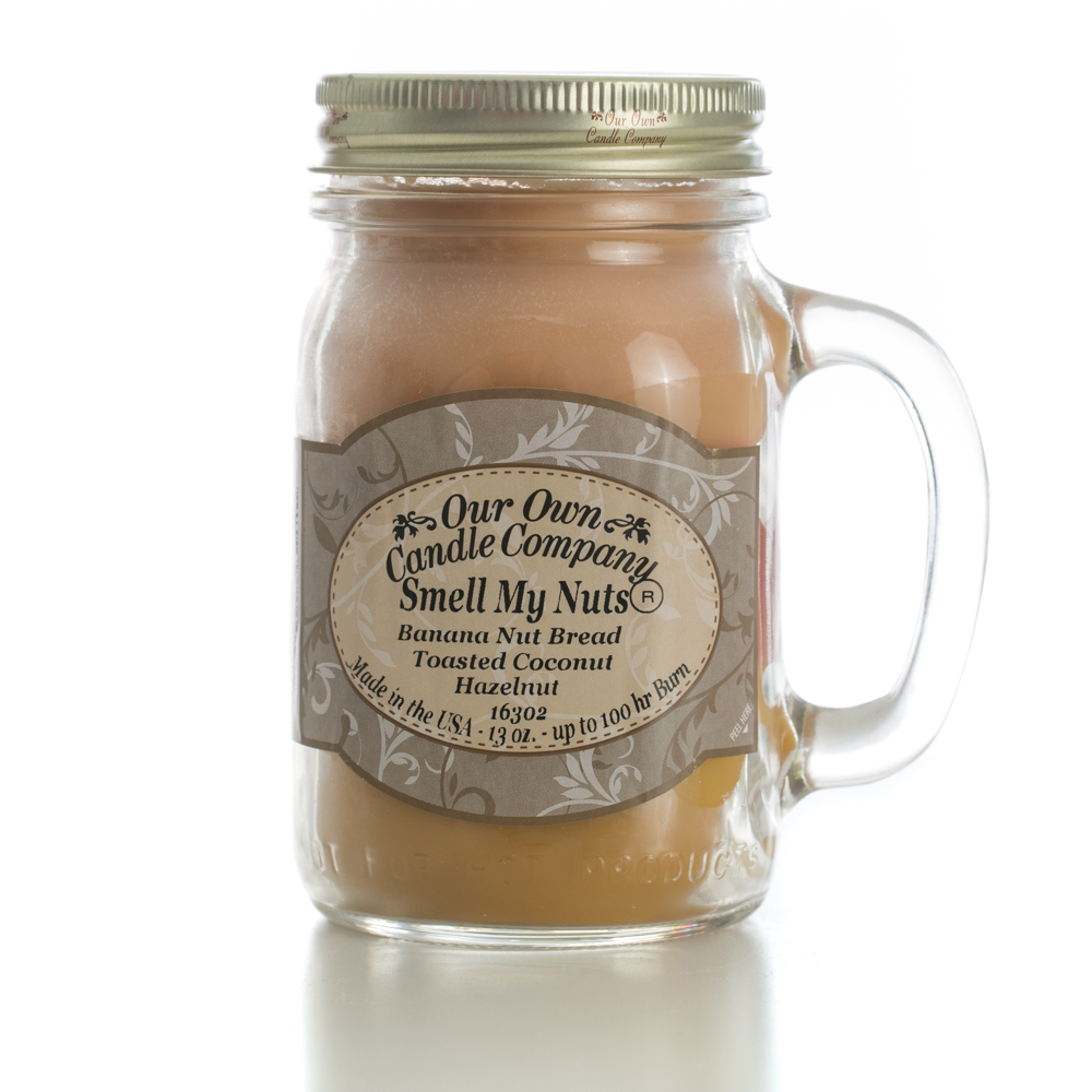 SMELL MY NUTS LARGE MASON CANDLE 13 OZ UPC# 810896000578