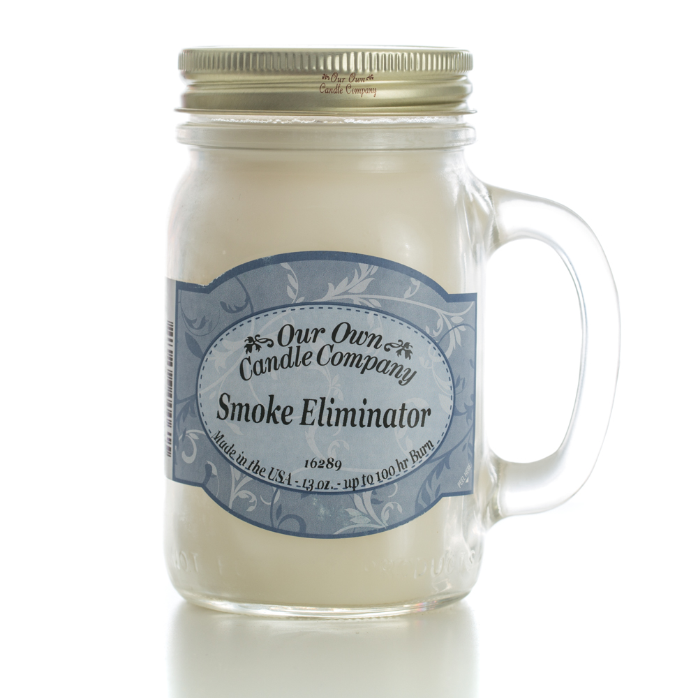 SMOKE ELIMINATOR LARGE MASON CANDLE 13 OZ UPC# 810896000615