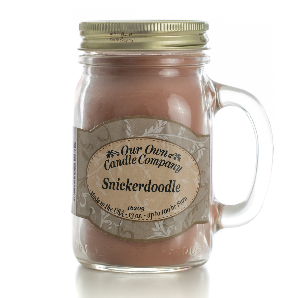 SNICKERDOODLE LARGE MASON CANDLE 13 OZ UPC# 810896000547