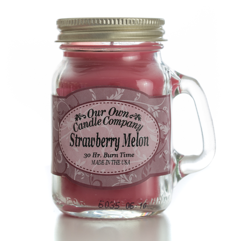 STRAWBERRY MELON MINI MASON CANDLE 3.5 OZ UPC# 810896005863