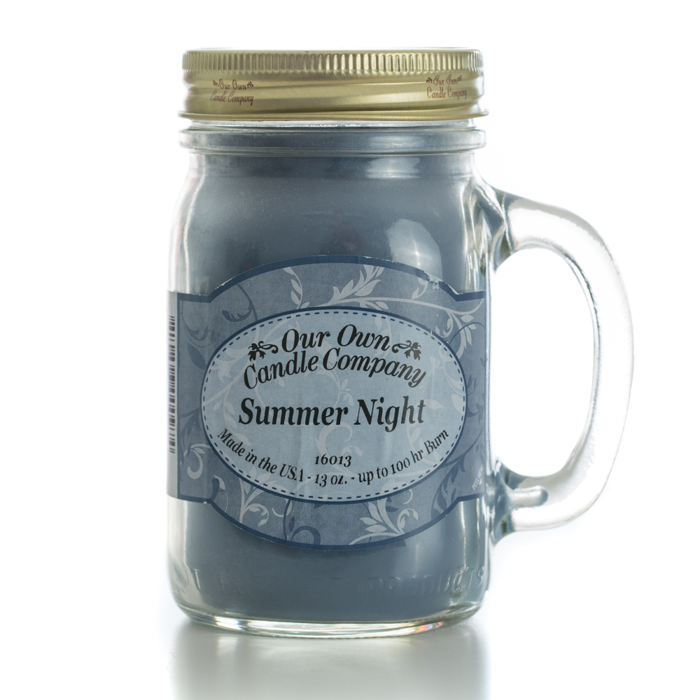 SUMMER NIGHT LARGE MASON CANDLE 13 OZ UPC# 810896000974