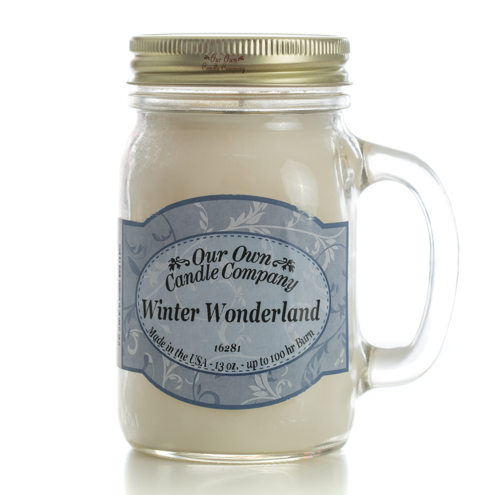 WINTER WONDERLAND LARGE MASON CANDLE 13 OZ UPC# 810896000264