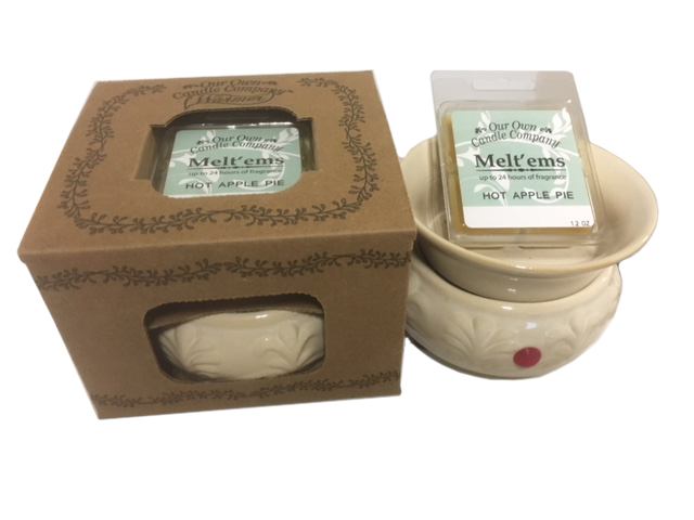CREAM WARMER W/ APPLE PIE MELT UPC# 813542027301