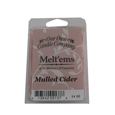 MULLED CIDER MELTS 6 CUBE 2.4 OZ UPC# 813542021378
