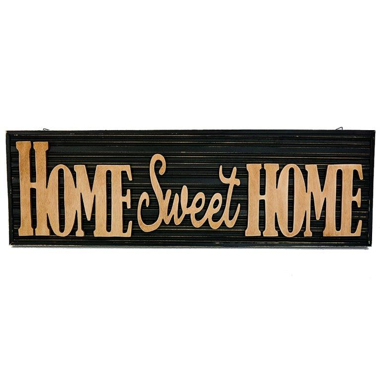 """24.5"""" X 8.75"""" HOME SWEET HOME CUT OUT WOOD SIGN UPC# 808765812957"""