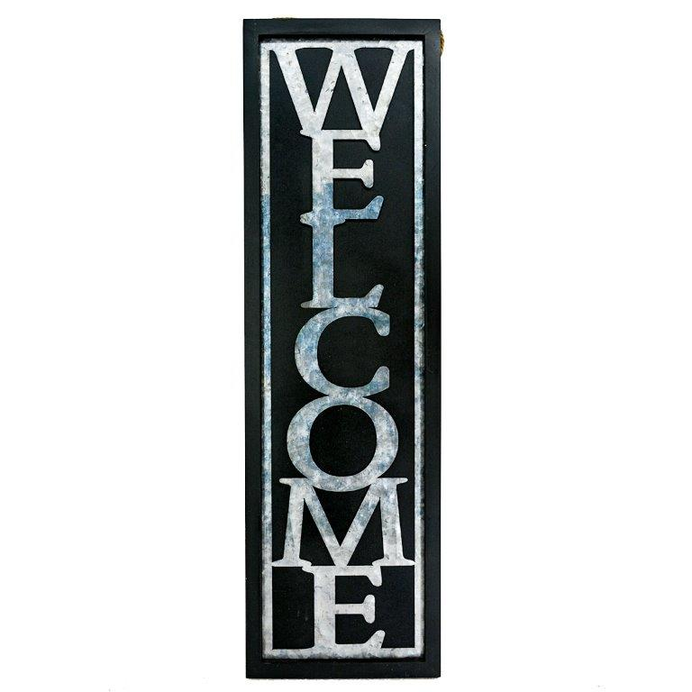 """31.5"""" X 9"""" CUT OUT METAL WELCOME SIGN UPC# 808765811264"""