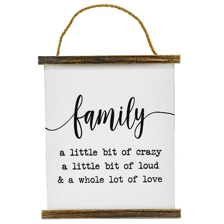 """12"""" x 10"""" HANGING FAMILY WOOD"""