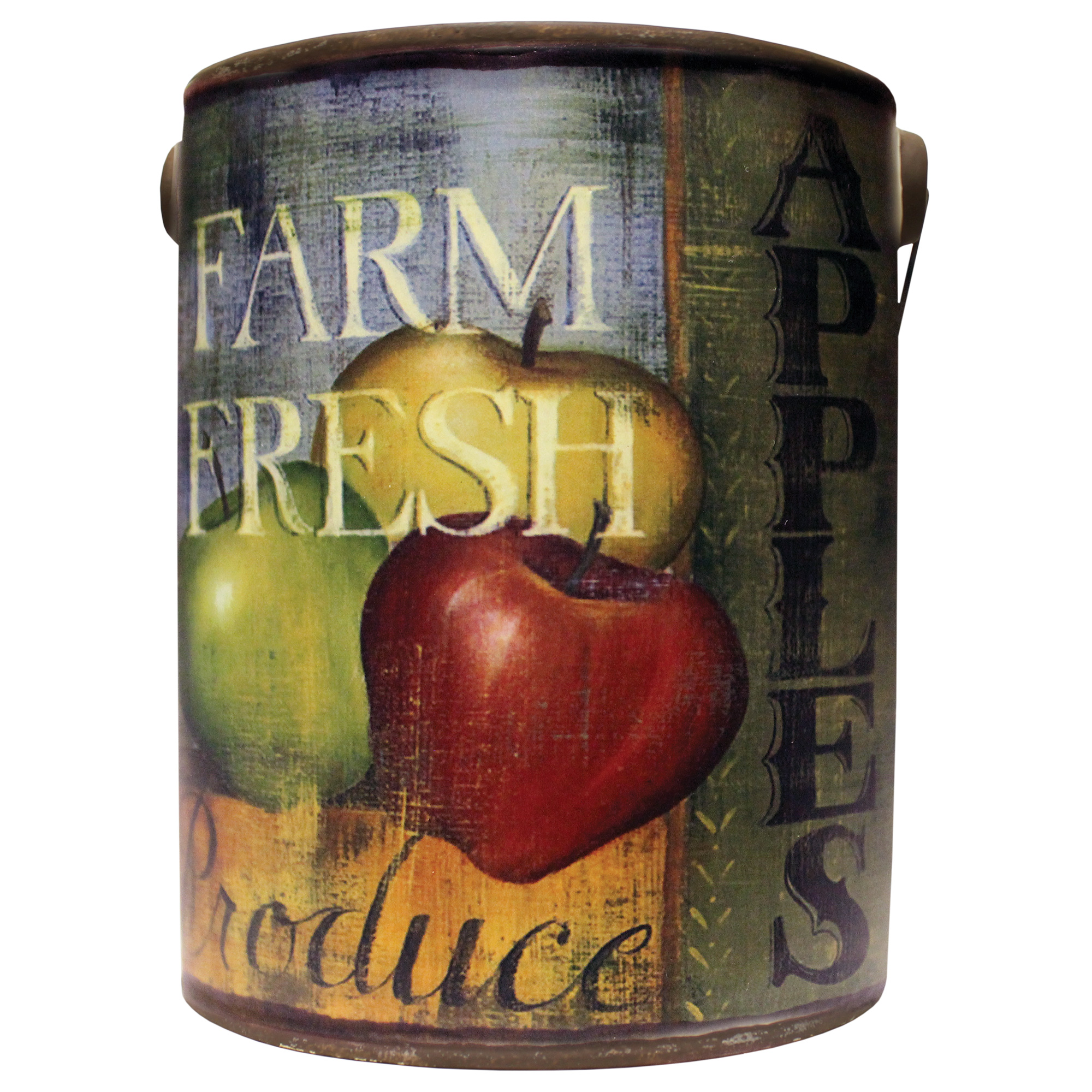 LARGE EMPTY FARM FRESH BUCKET- JUICY APPLE