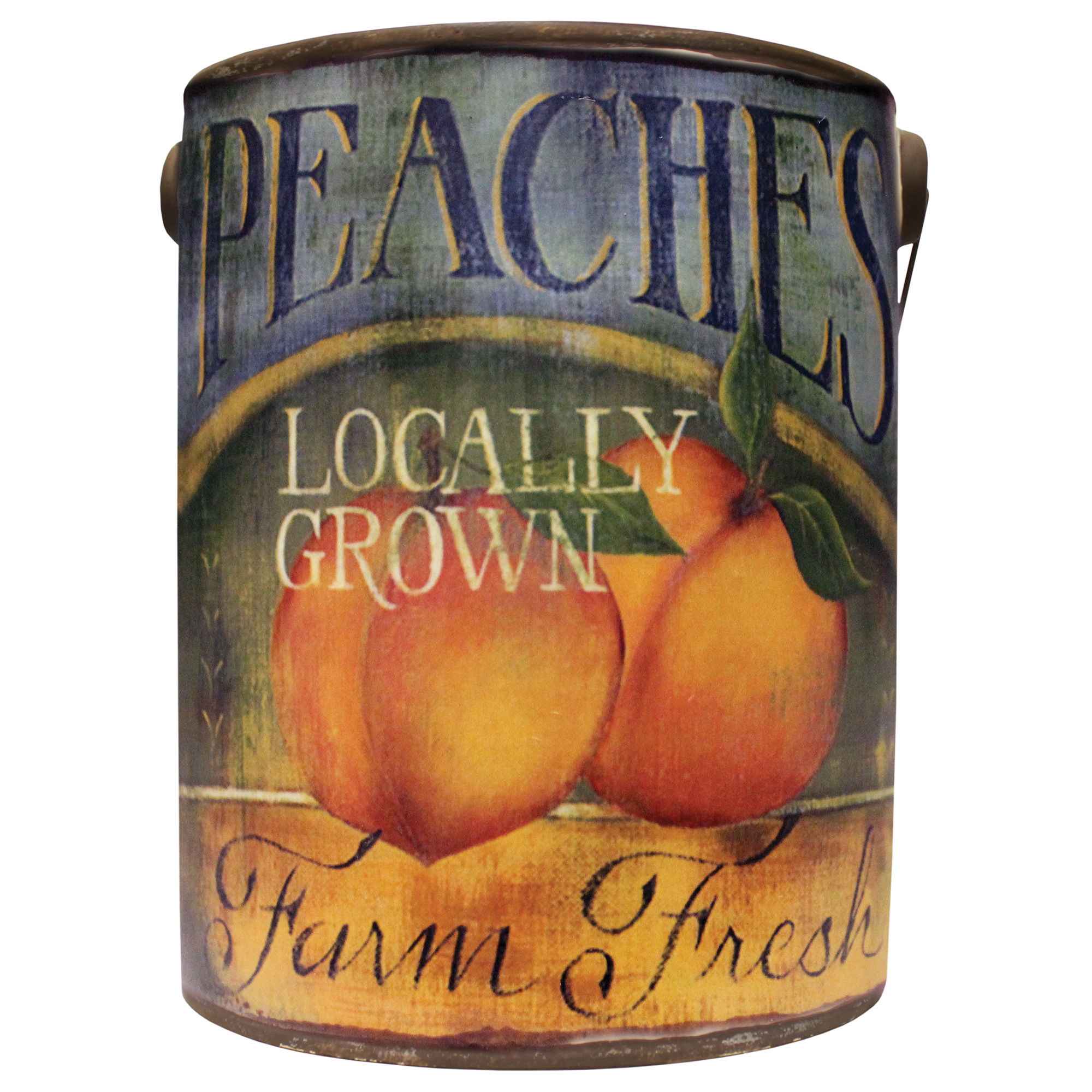 LARGE EMPTY FARM FRESH BUCKET- JUICY PEACH