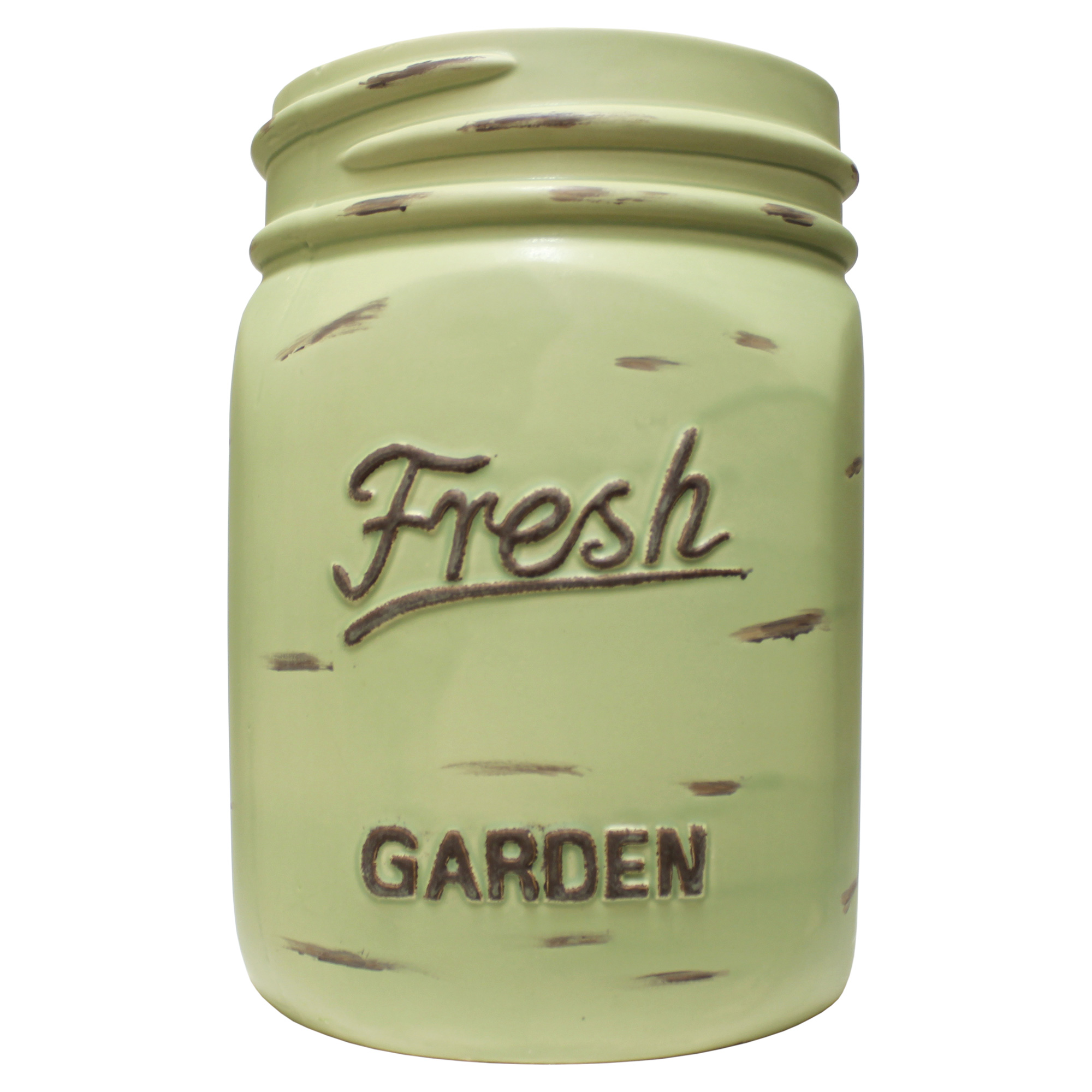 LARGE MASON JAR-GREEN