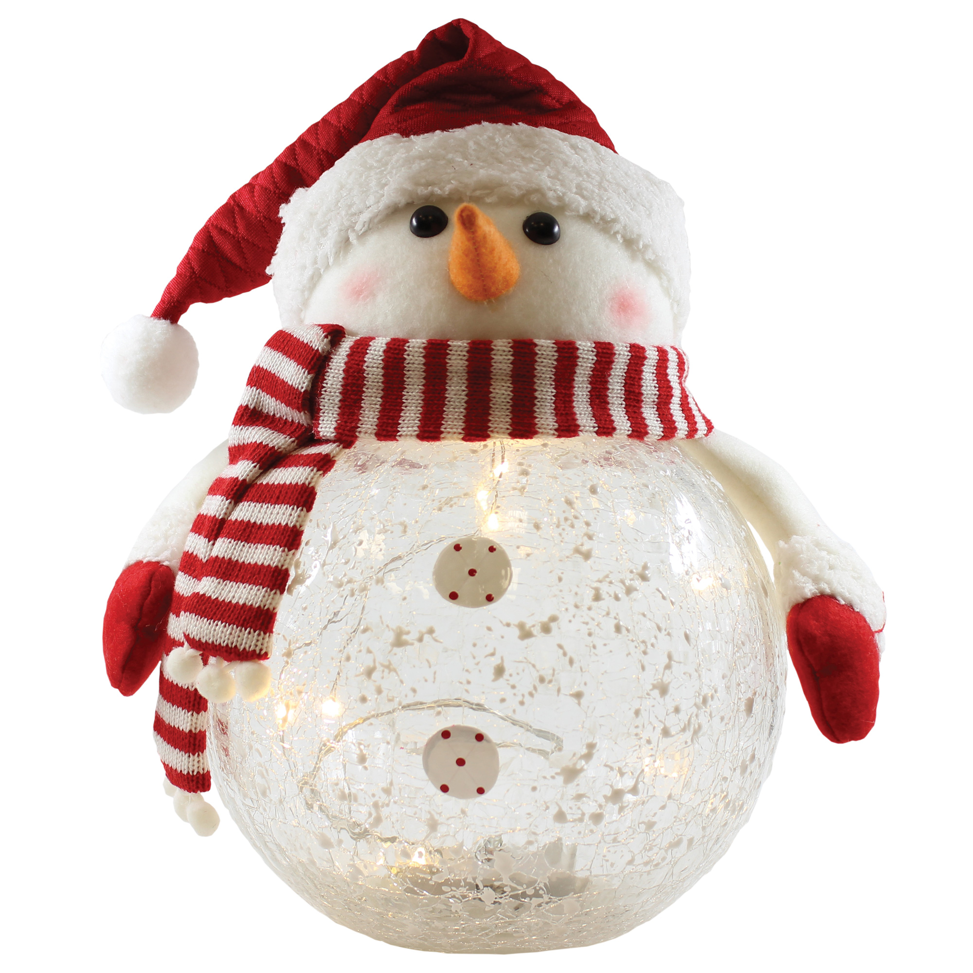 "9.5"" x 11"" x 7"" SNOWMAN WITH SCARF PLUSH"