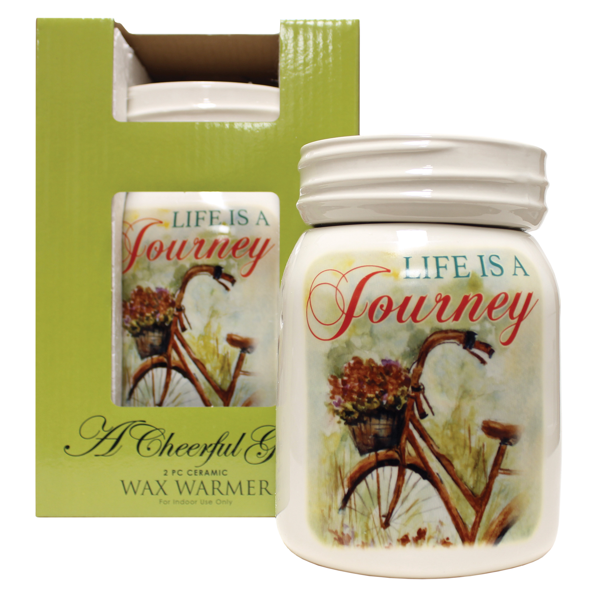LIFE IS A JOURNEY TABLE TOP ELECTRIC WAX MELTER