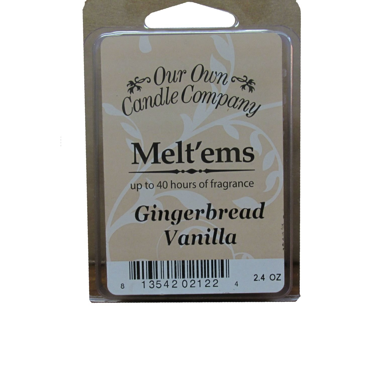 GINGERBREAD VANILLA MELT 6 CUBE 2.4 OZ UPC# 813542021224