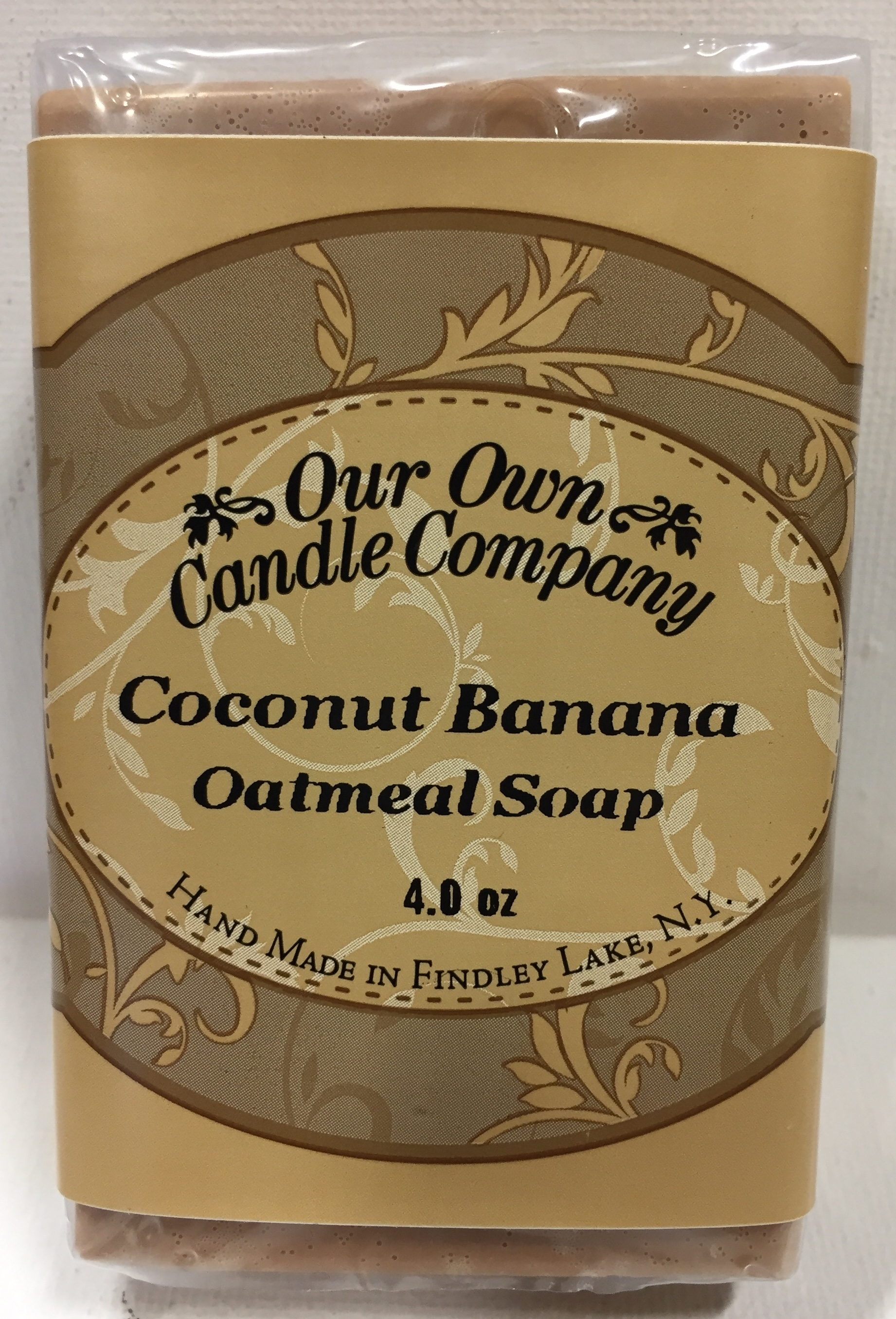 COCONUT BANANA OATMEAL SOAP 4 OZ UPC# 813542026564