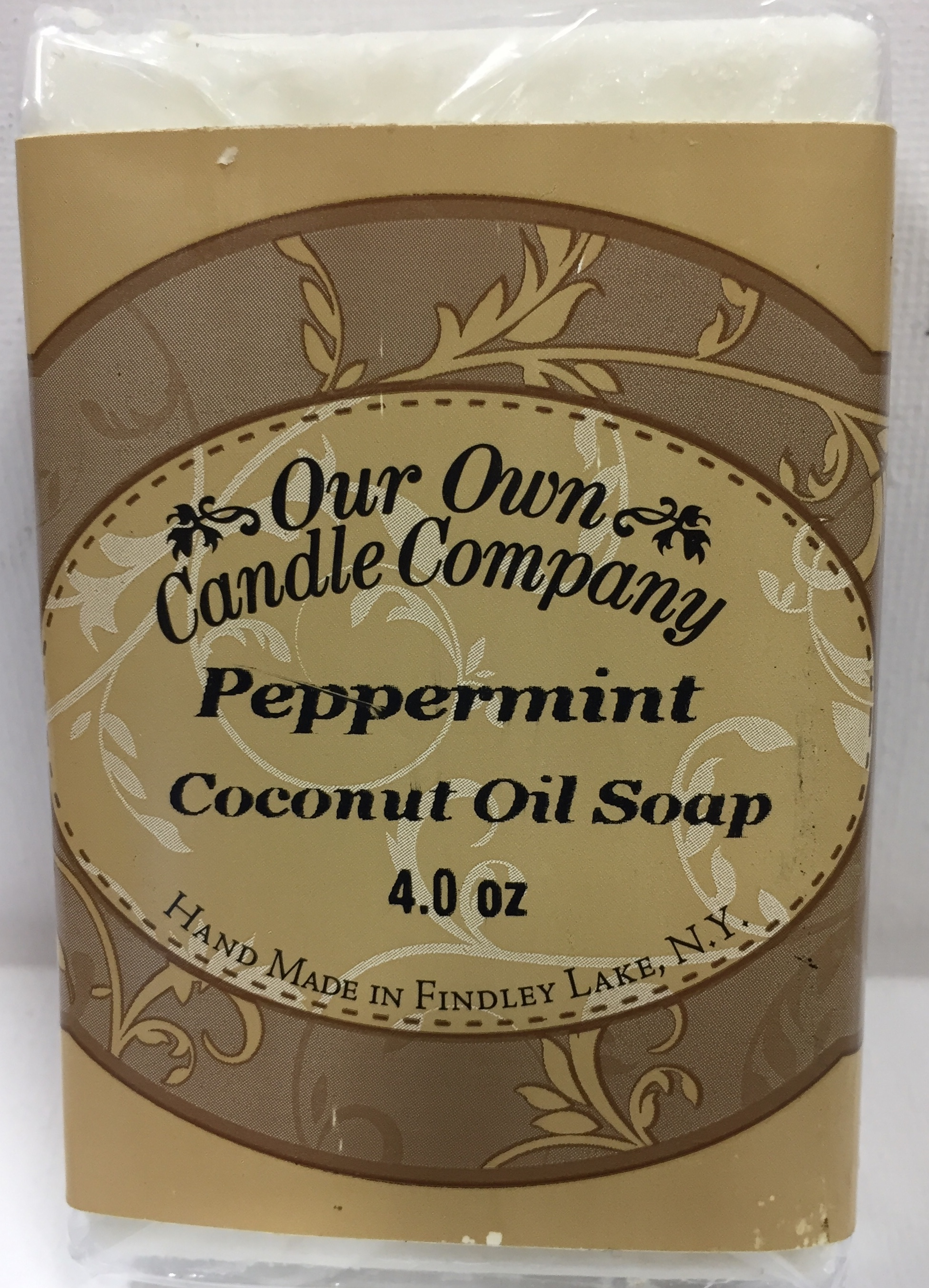 PEPPERMINT COCONUT OIL SOAP 4 OZ UPC# 813542026472