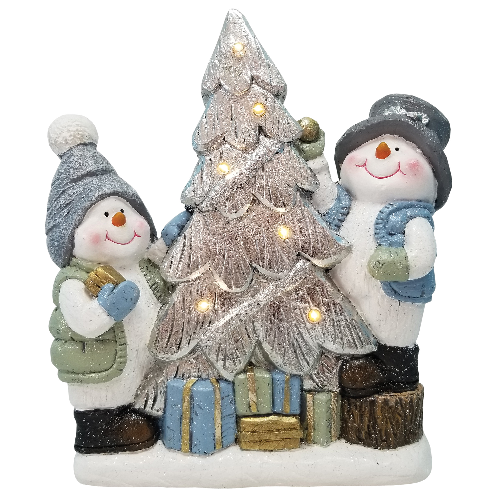 "13"" x 14"" x 4"" CRYSTAL WILLIE DECORATING TREE W/ LIGHTS"