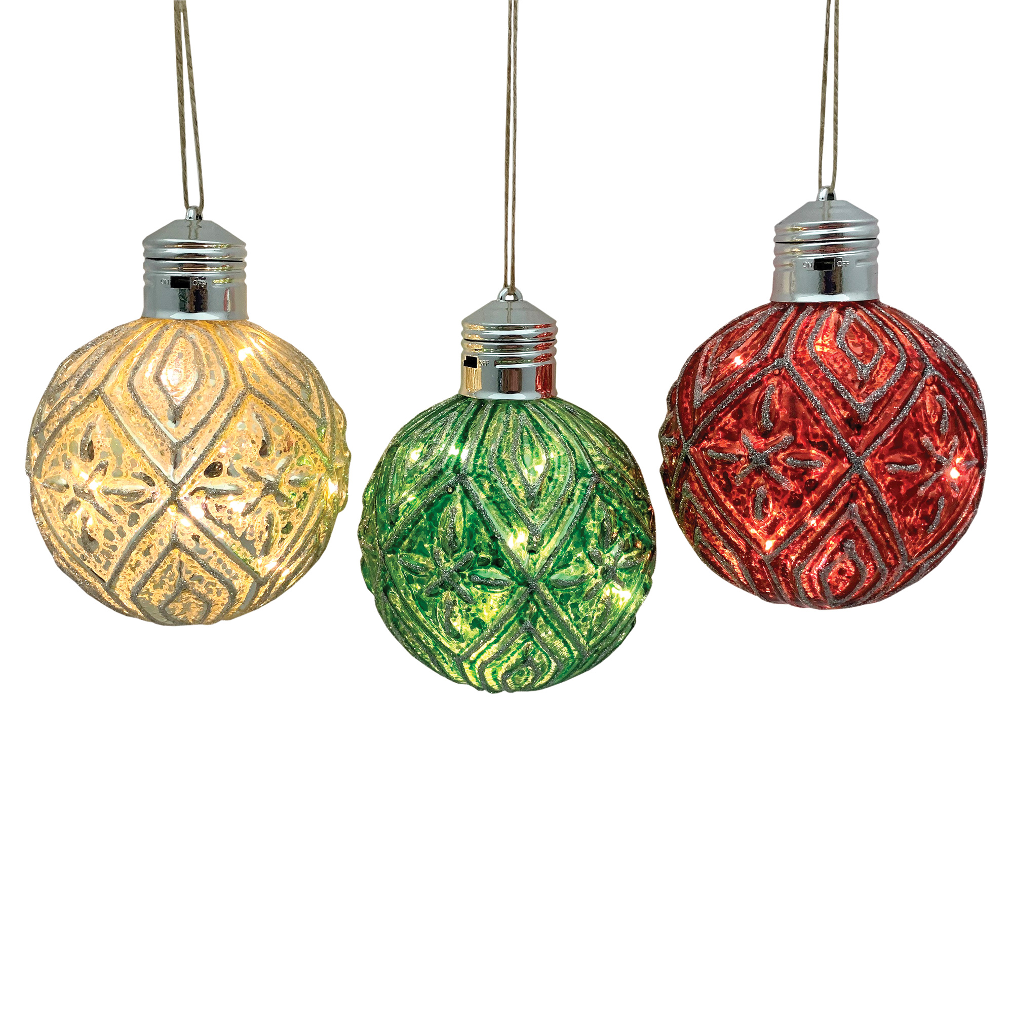CLASSIC CHRISTMAS ORNAMENT SET OF 6