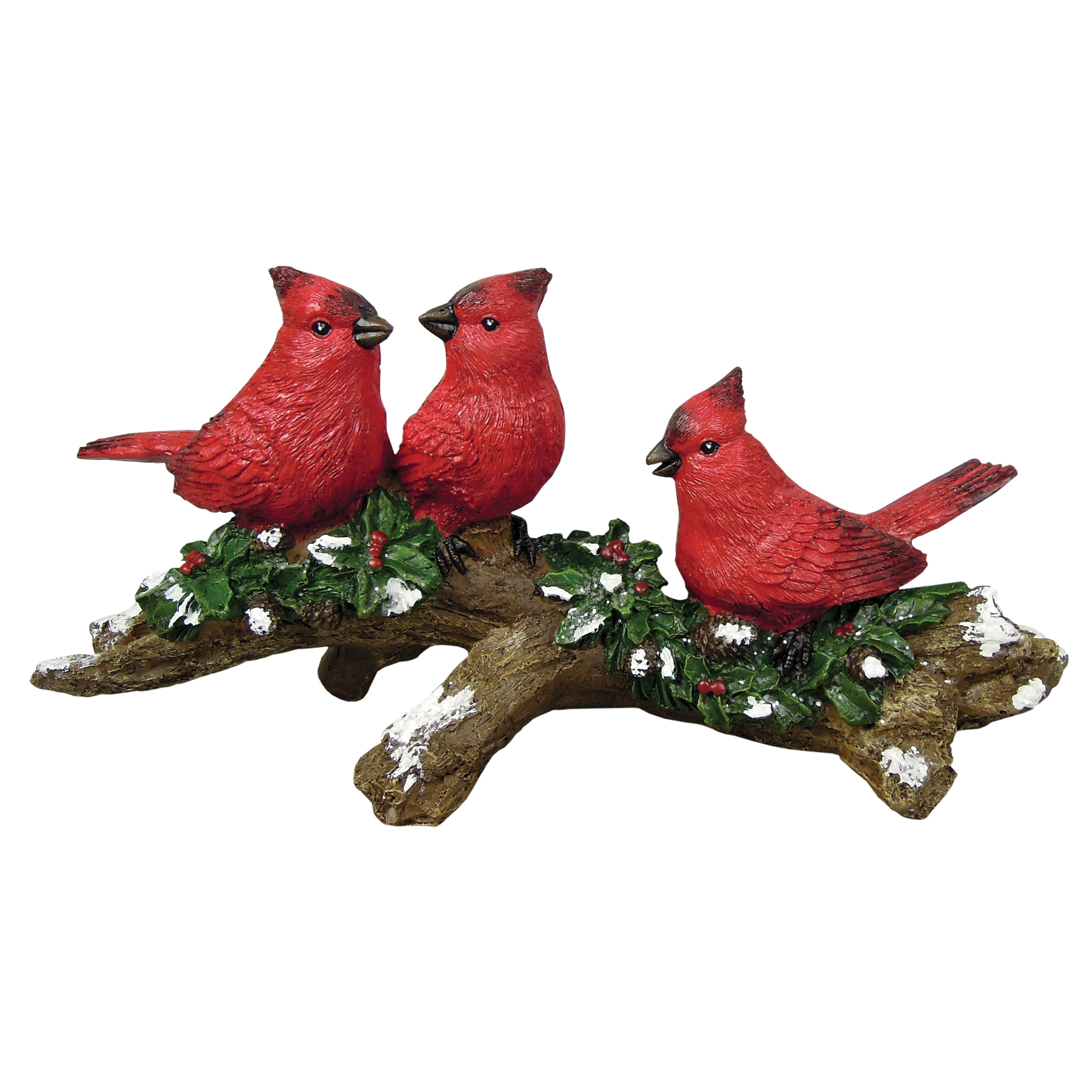"9.8"" x 13.4"" x 4.75"" CARDINALS ON BRANCH"