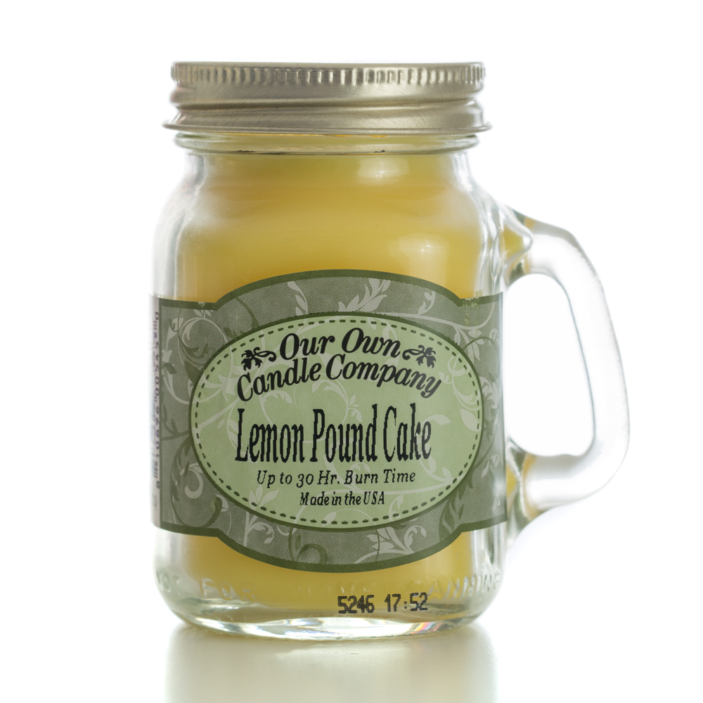 LEMON POUNDCAKE MINI MASON CANDLE 3.5 OZ
