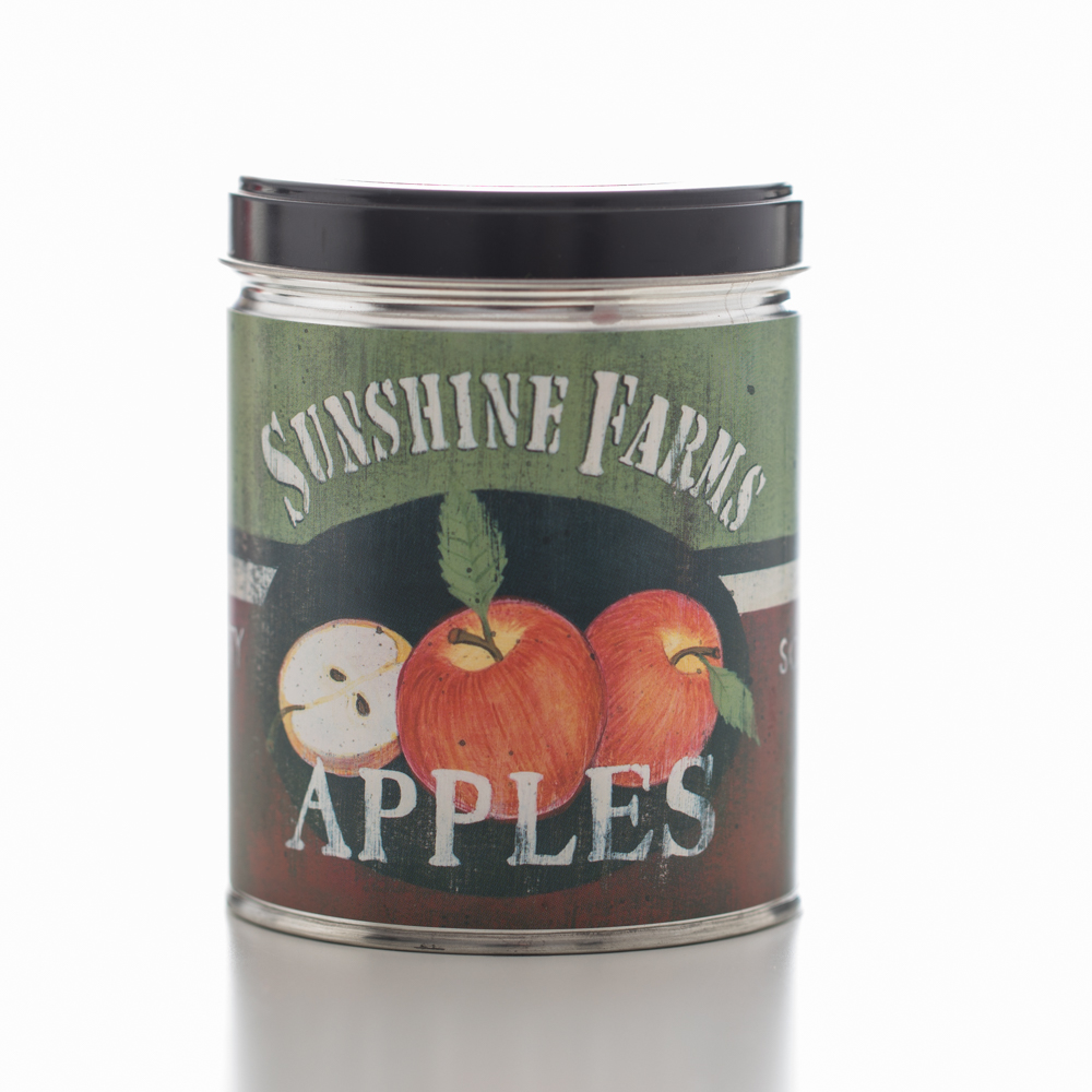 MACINTOSH APPLE TIN CANDLE 13 OZ UPC# 813542022115