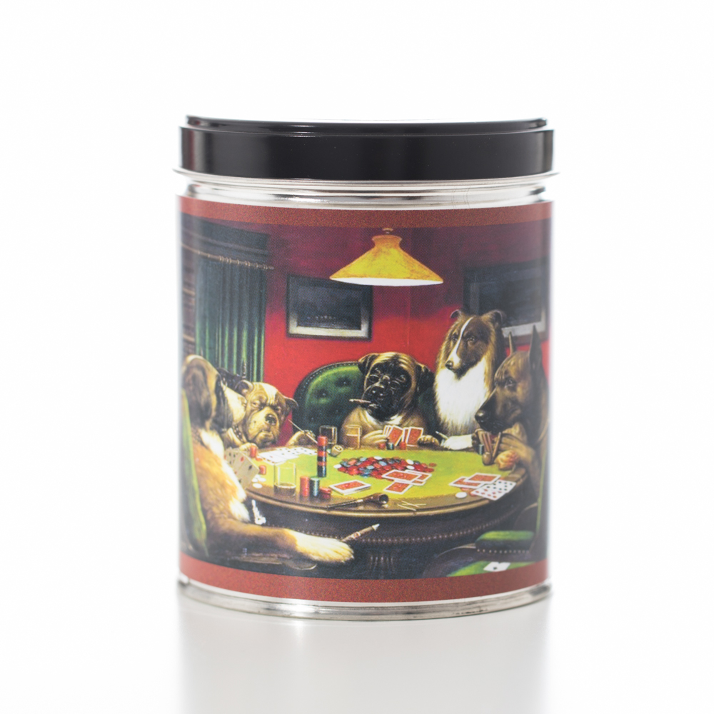 SMOKE ELIMINATOR IN DOGS POKER TIN 13 OZ UPC# 813542022078