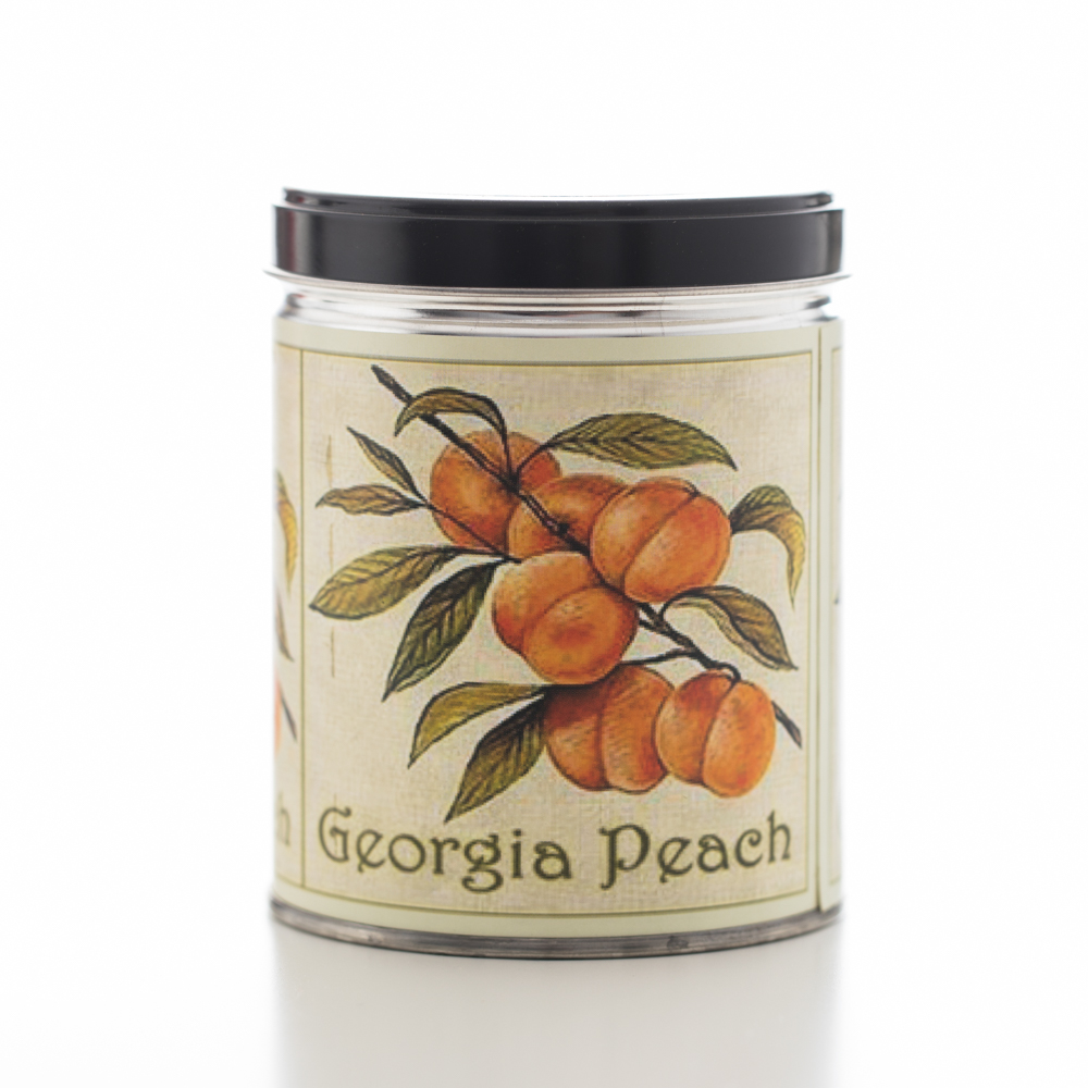 FRESH PEACH TIN CANDLE 13 OZ UPC# 813542022429