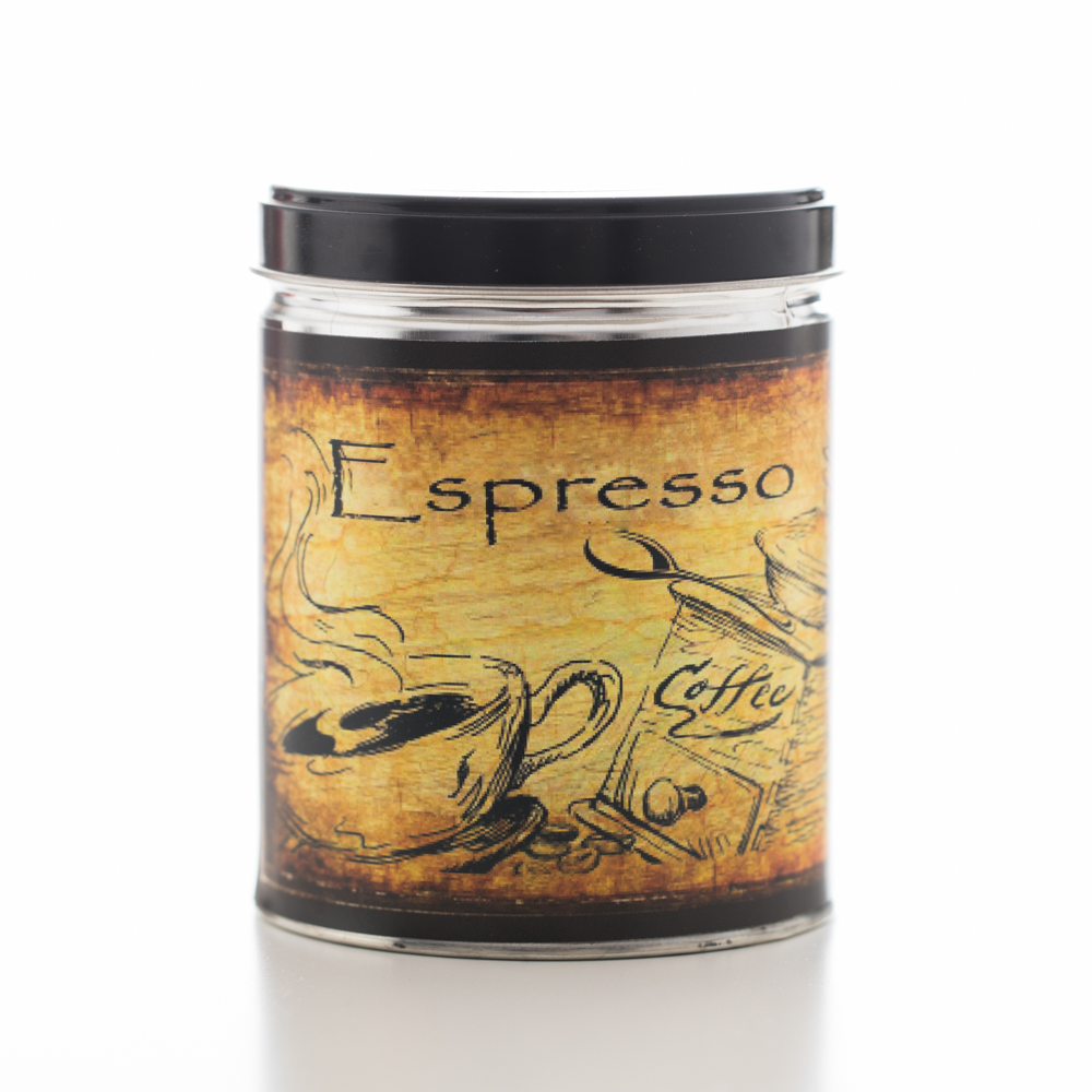 ESPRESSO TIN CANDLE 13 OZ UPC# 813542022436