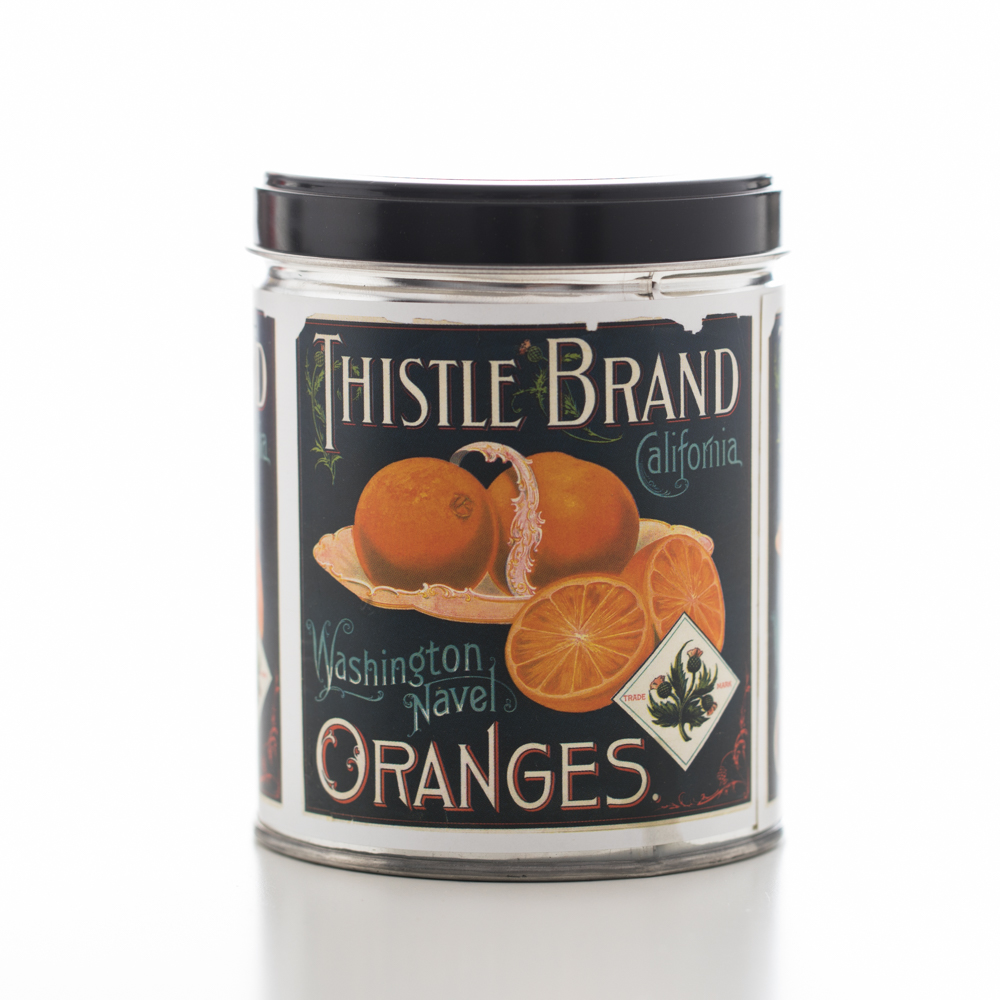 ORANGE CREAM TIN CANDLE 13 OZ UPC# 813542022290