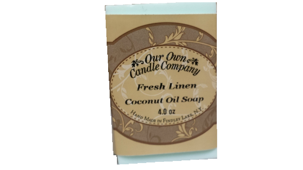 FRESH LINEN COCONUT OIL SOAP 4 OZ UPC# 813542026199