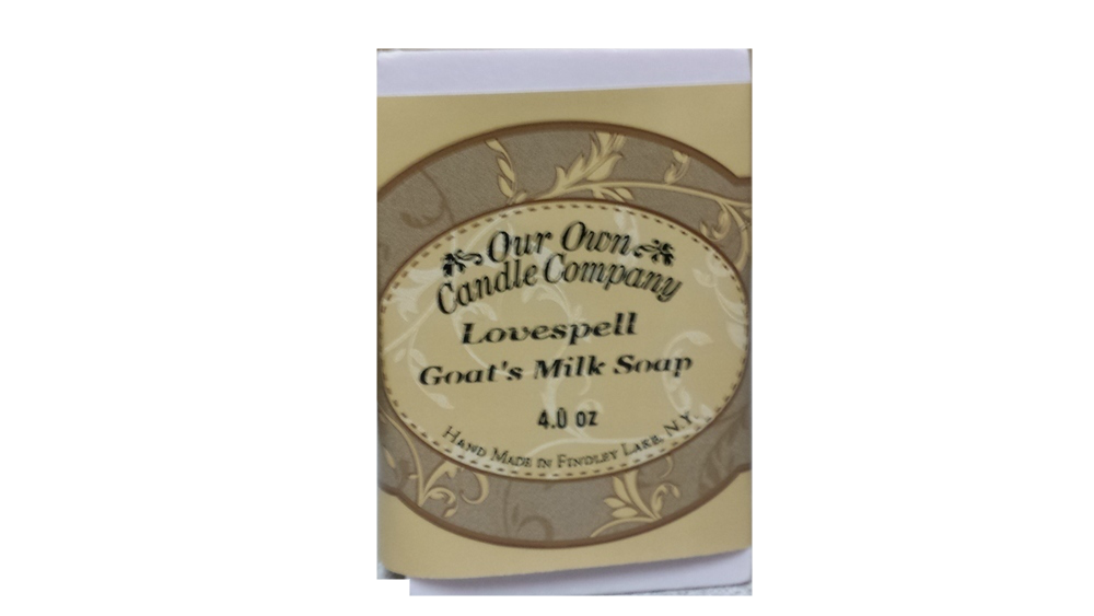 LOVE SPELL GOATS MILK SOAP 4 OZ UPC# 813542026120