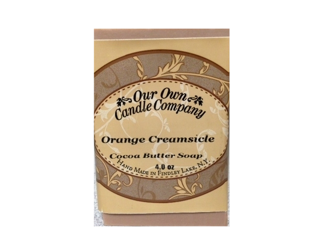 ORANGE CREAMSICLE COCOA BUTTER SOAP 4 OZ UPC# 813542026038