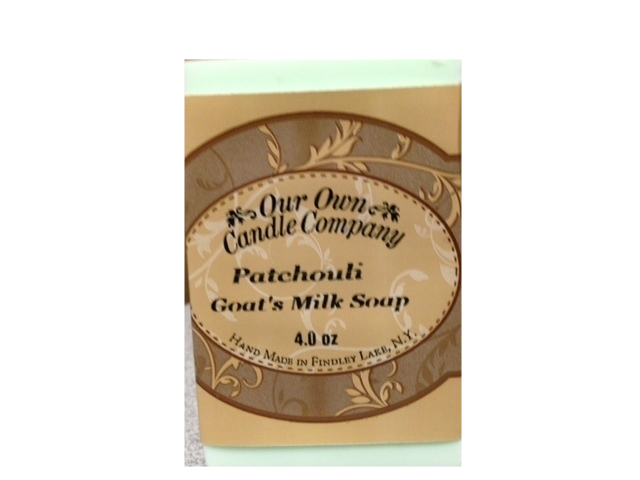 PATCHOULI GOATS MILK SOAP 4 OZ UPC# 813542026274