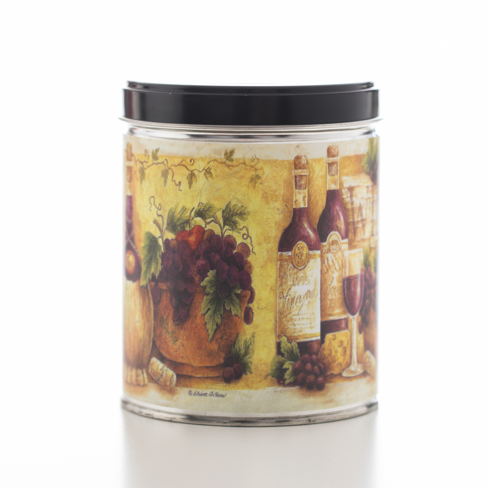 TUSCAN VINEYARD TIN CANDLE 13 OZ UPC# 813542022085