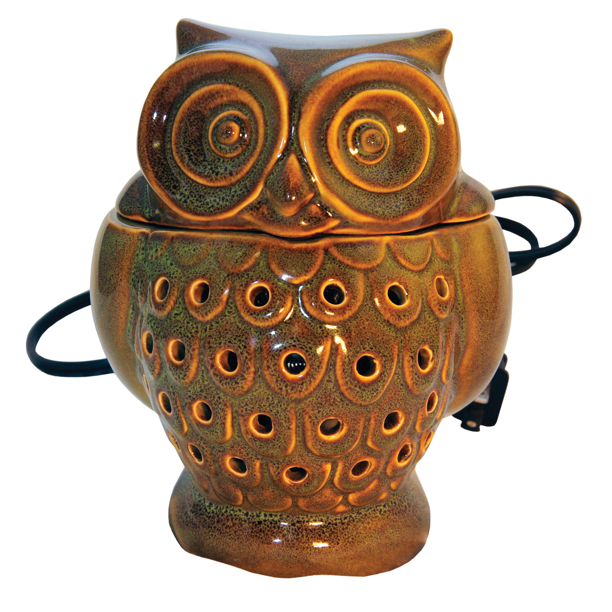 GREEN OWL TABLE TOP ELECTRIC WAX MELTER UPC# 674623000268